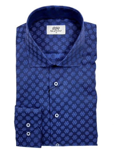 snow flake shirt 100& cotton. Easy care shirt