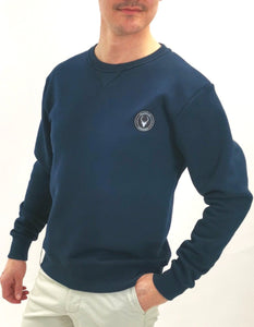 Sweatshirt marinblå slim fit