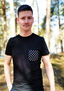 Skotrar i fickan t-shirt slim fit