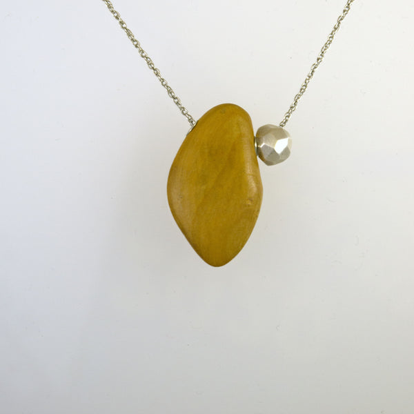 Boxwood Necklace with Polygon