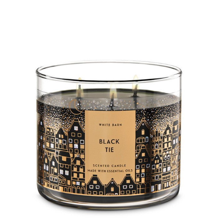 Bath and Body Works : 3-Wick Candle : Black Tie