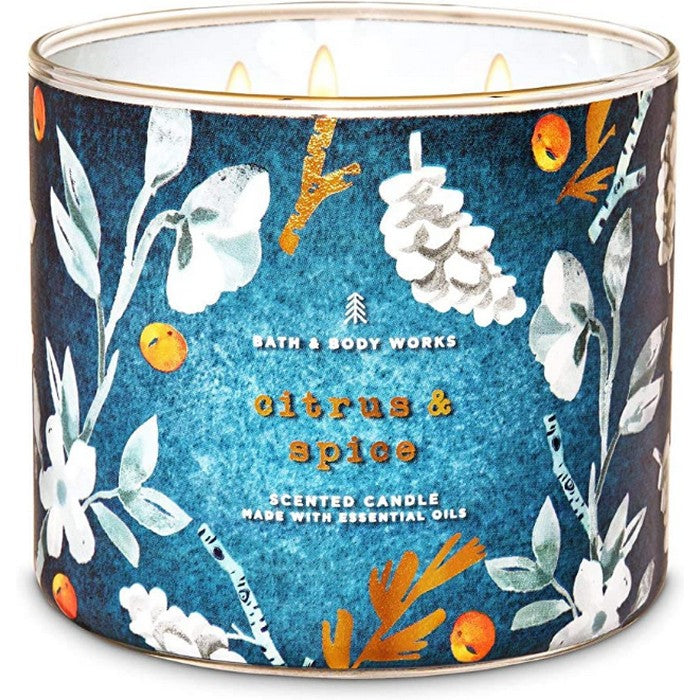 Bath and Body Works : 3-Wick Candle : Citrus & Spice