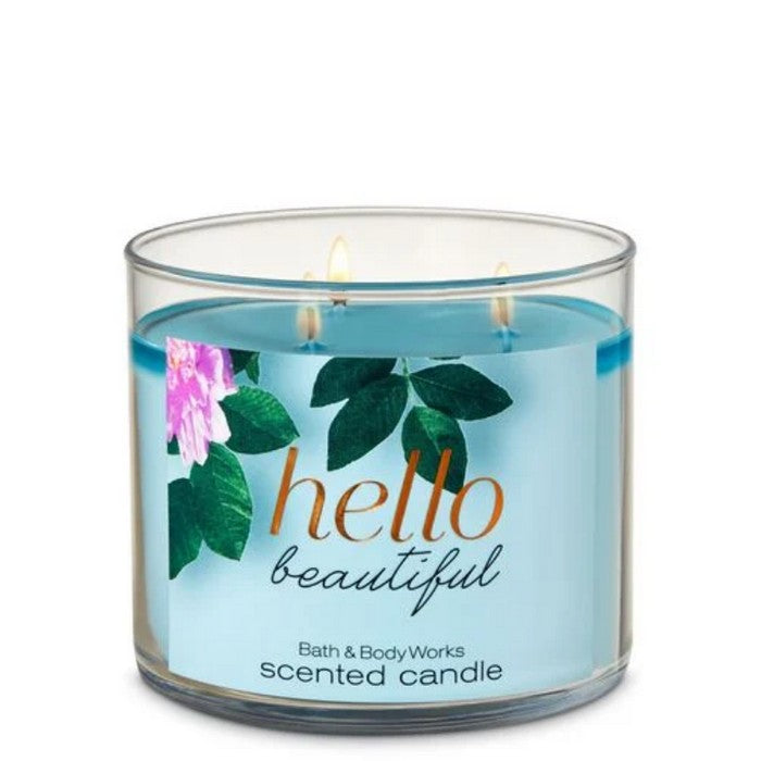 Bath and Body Works : 3-Wick Candle : Hello Beautiful