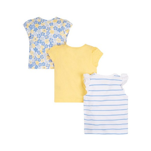 Mothercare : Buttercup Striped T-Shirts - Set of 3
