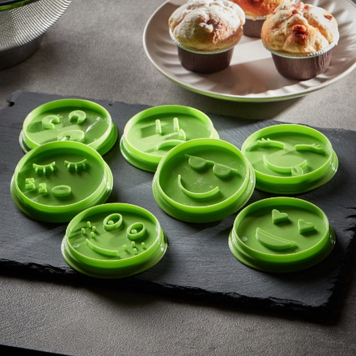 HomeCentre : CERIMAN : 7-Piece Emoji Cookie Cutter Set