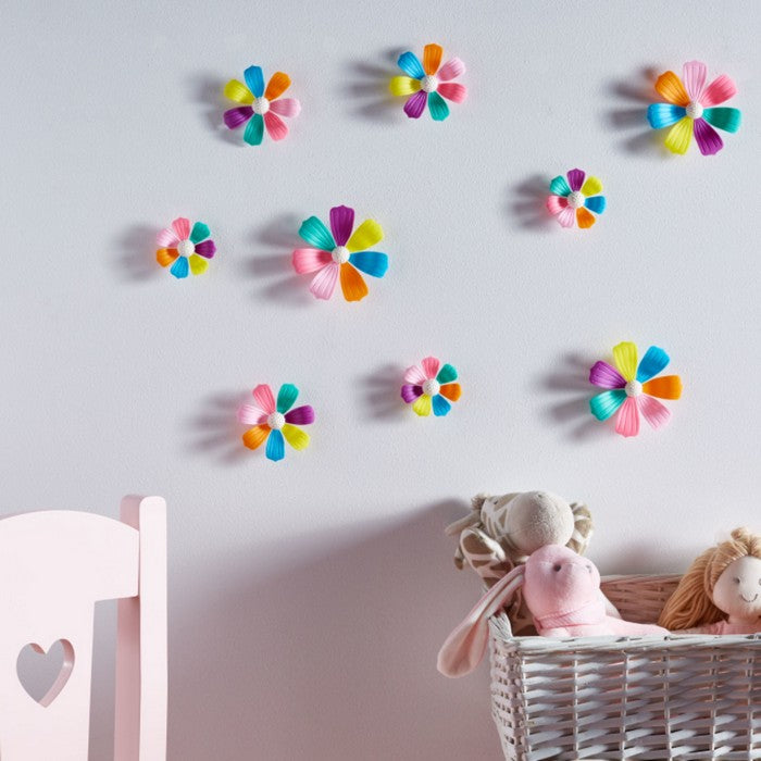 HomeCentre : Decorative Jasmine Flower Wall Sticker - Set of 9