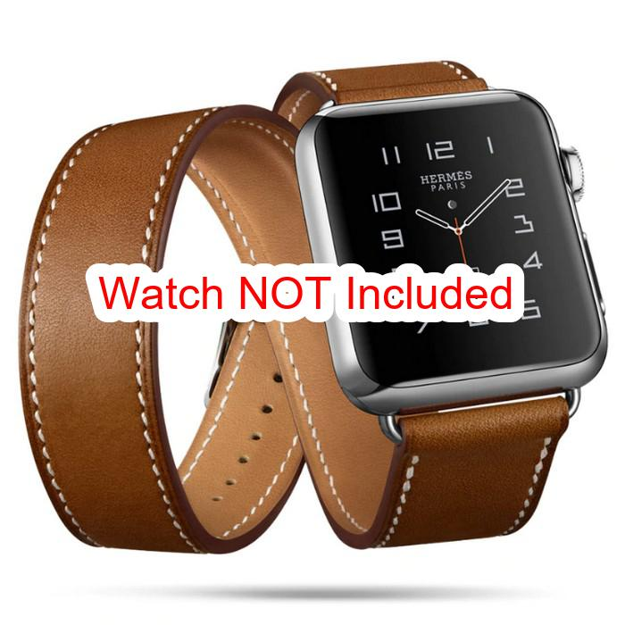 Apple Watch Straps : Leather Double Tour - Brown