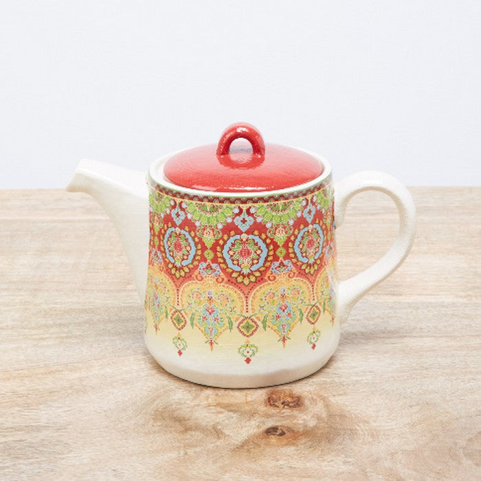 HomeCentre : Ottoman : Printed Teapot with Lid