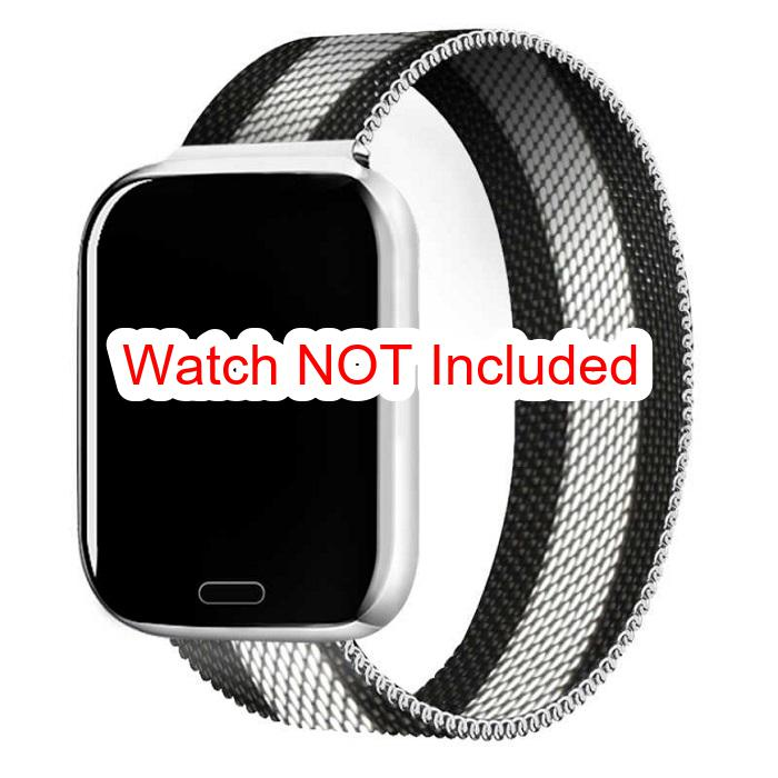 Apple Watch Straps : Milanese Stainless Steel (With Pattern)