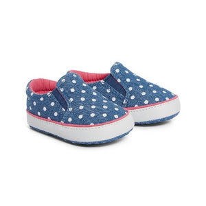 Mothercare : Spotty Chambary Pump Pram Shoes