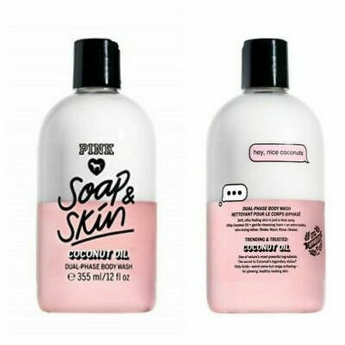 Victoria's Secret : PINK : Soap & Skin - Dual Phase Coconut Oil Body Wash