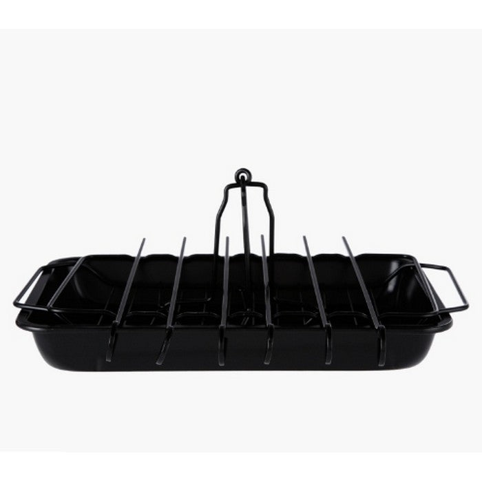HomeCentre : Wuyi :  Rectangular Baking Tray with Rack and Skewers