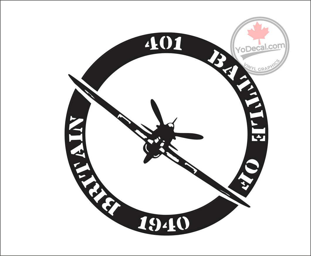 '401 Sqn Battle of Britain 1940' Premium Vinyl Decal
