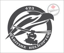 '423 Maritime Helicopter Squadron - Cyclone' Premium Vinyl Decal