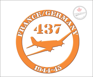 '437 France & Germany 1944-45' Premium Vinyl Decal