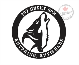 '437 Husky Squadron - Anything Anywhere' Premium Vinyl Decal