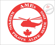 'AMEs Keeping Pilots Alive Since 1903 -Helicopters' Premium Vinyl Decal