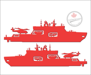 'AOPS Canadian Navy with Cyclone Helicopter (PAIR)' Premium Vinyl Decal