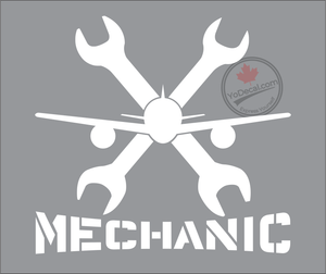 'Aircraft Mechanic Cross Wrenches' Premium Vinyl Decal