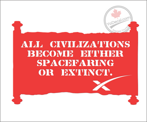 'All Civilization Become Either' Premium Vinyl Decal