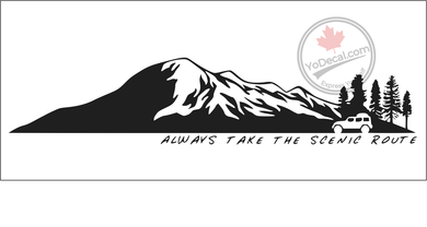 'Always Take The Scenic Route - Jeep' Premium Vinyl Decal
