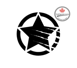 'Army Star Circle Clawed' Premium Vinyl Decal