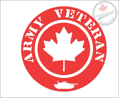 'Army Veteran' Premium Vinyl Decal