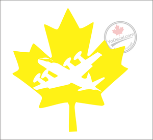 'Aurora Canadian Maple Leaf' Premium Vinyl Decal