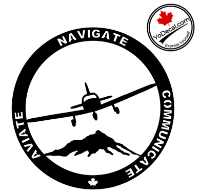 'Aviate Navigate Communicate' Premium Vinyl Decal