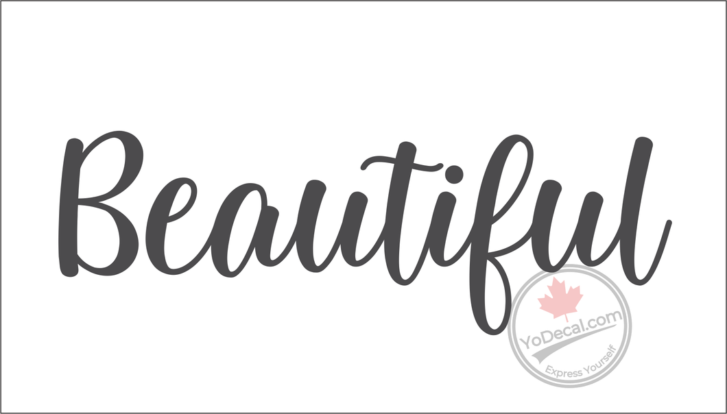 'Beautiful - Relaxed Modern' Premium Vinyl Wall Decal