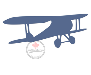 'Biplane Flying Away' Premium Vinyl Decal