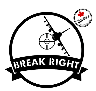 'Break Right F-16 Falcon' Premium Vinyl Decal