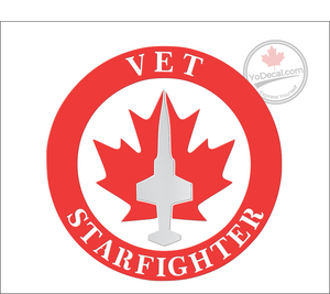 'Starfighter Vet - Proud Supporter' Premium Vinyl Decal