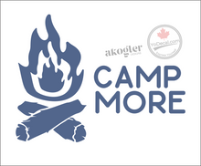 'Camp More Fire' Premium Vinyl Decal