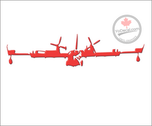 'Canadair CL-215 Water Bomber Frontal' Premium Vinyl Decal