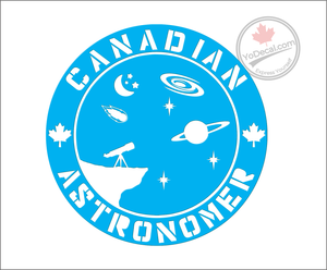 'Canadian Astronomer' Premium Vinyl Decal