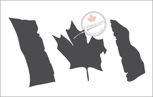 'Canadian Flag Tattered Breeze' Premium Vinyl Decal