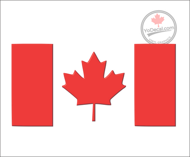 'Canadian Flag' Premium Vinyl Decal