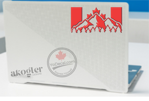 'Canadian Flag and Mountains' Premium Vinyl Decal