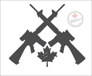 'Canadian Infantry Cross Rifles C7' Premium Vinyl Decal