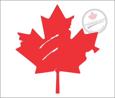 'Canadian Maple Leaf Distressed' Premium Vinyl Decal