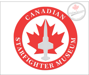 'Canadian Starfighter Museum - Proud Supporter' Premium Vinyl Decal