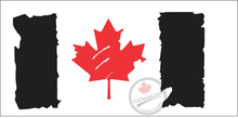 'Canadian Flag Distressed Red Maple Leaf' Premium Vinyl Decal