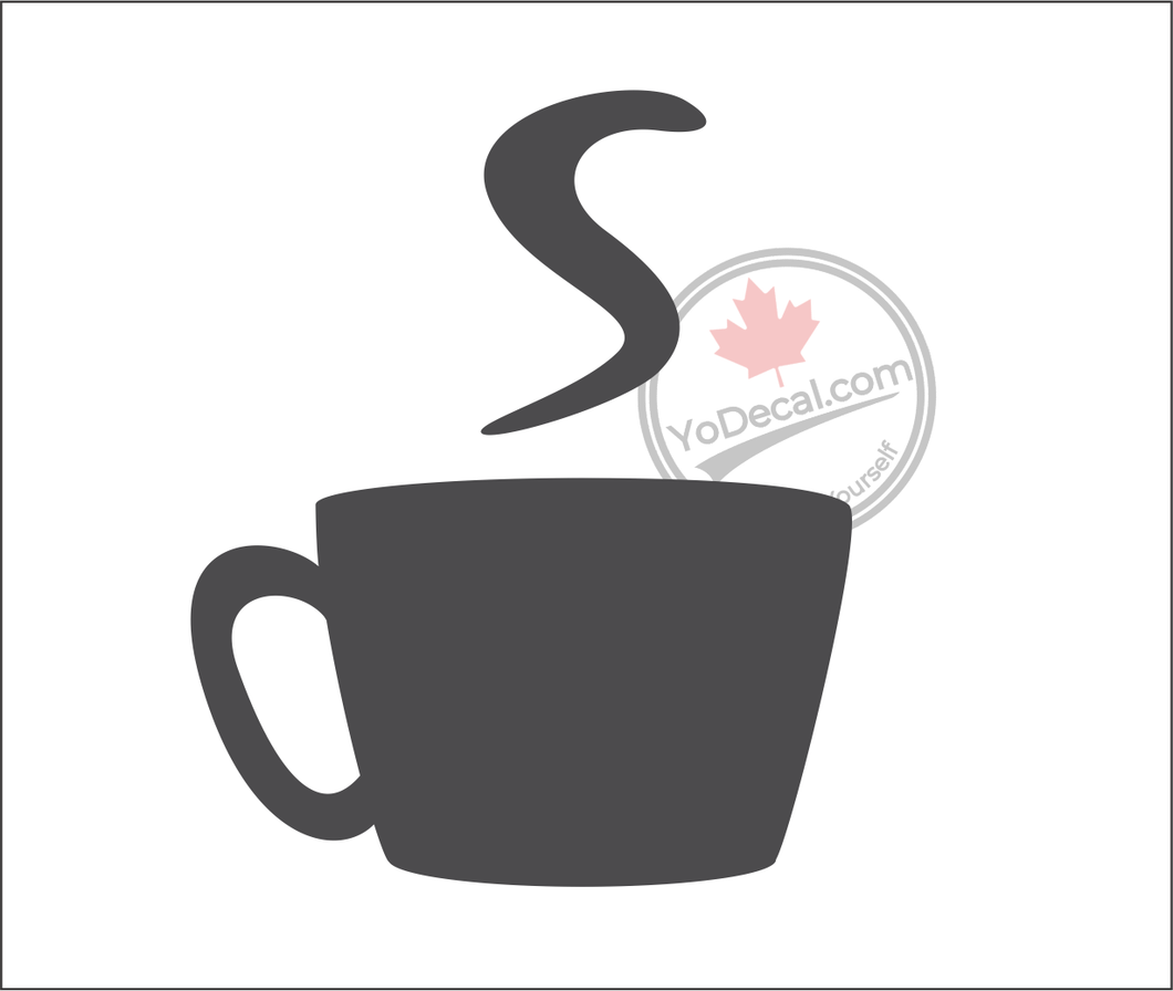 'Coffee Mug' Premium Vinyl Wall Decal