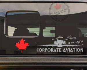 'Corporate Aviation Doing It In Style!' Premium Vinyl Decal