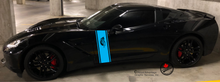'Feather H-Stripe' Premium Vinyl Decals (Pair)