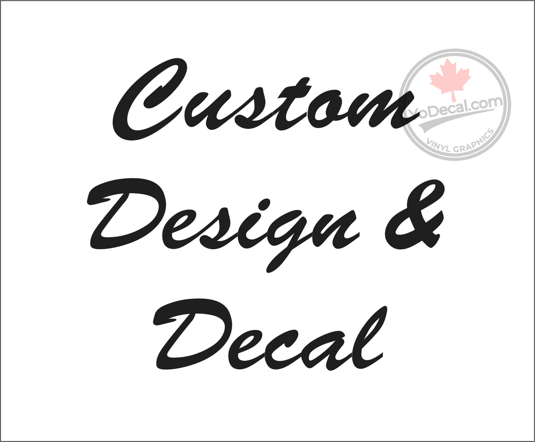 'Custom Building Sign Decals 1' Premium Vinyl Decal