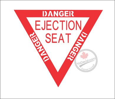'Danger Ejection Seat' Premium Vinyl Decal