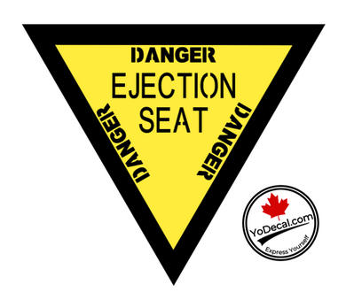 'Danger Ejection Seat Yellow Jacket' Premium Vinyl Decal