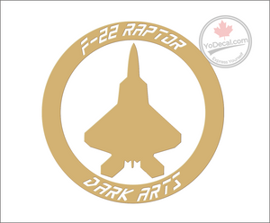 'F-22 Raptor - Dark Arts' Premium Vinyl Decal